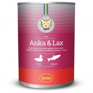 Paté Anka & Lax: 400 gr (Cat Wet Food - Pate with duck and salmon)